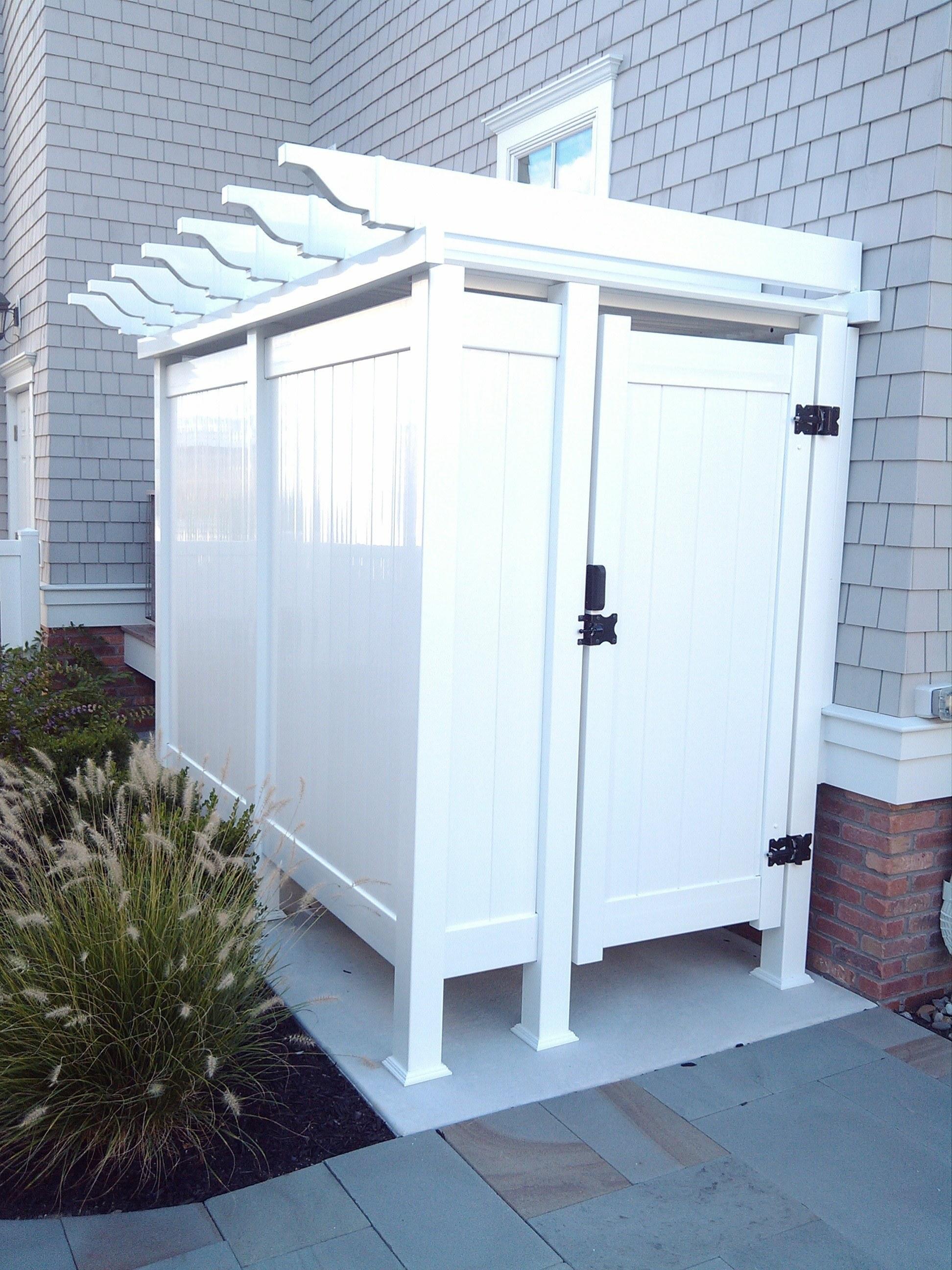 Outdoor Shower Enclosures Photo Gallery Dennisville Fence