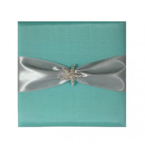 Simple C Beach Wedding Invitations In Aqua Blue By Simplete Design