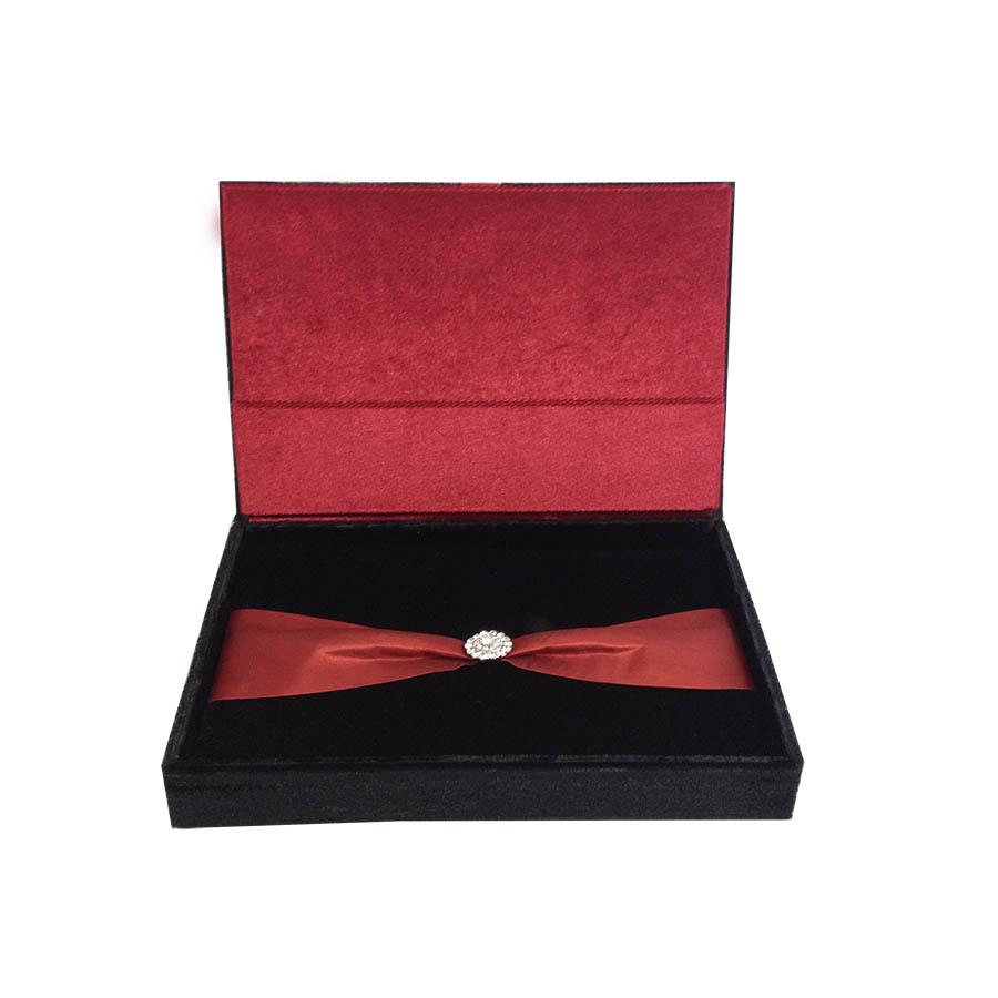 Black Amp Red Premium Gift Box Set Velvet Luxury Wedding