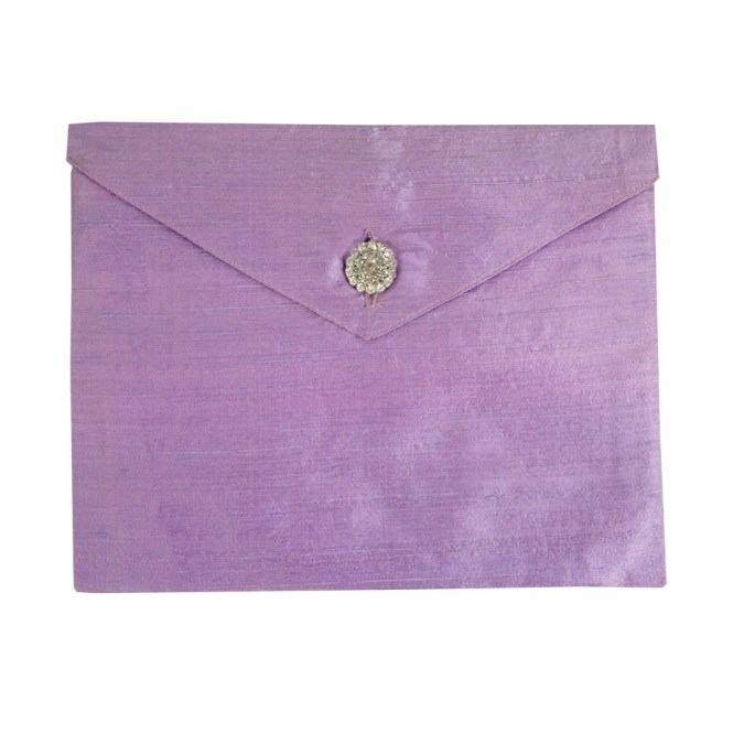 Lavender Dupioni Silk Invitation