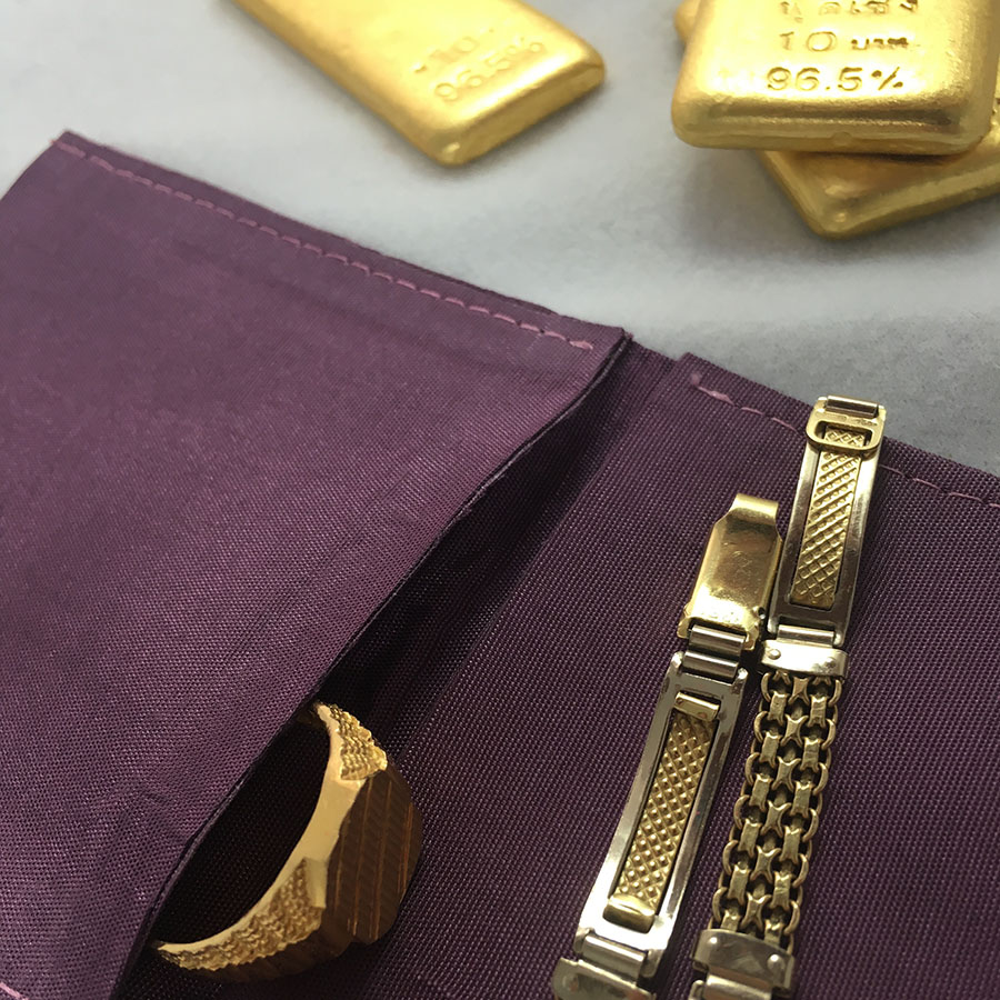 Fresco Silk Jewelry Pouch For Packaging Of Rings Bracelet