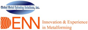 Global Metal Spinning Solutions and DENN logos, innovation & experience in metalforming