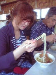 eat with chopsticks