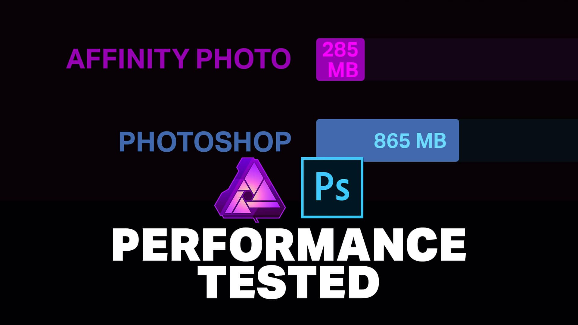 Affinity Photo vs Photoshop Benchmark - Denny's Tips