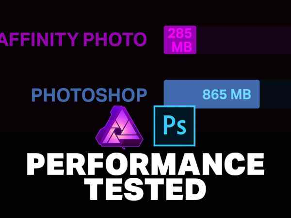 Affinity Photo vs Photoshop Performance Tested