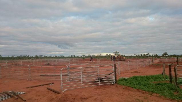 Aufbau der Sheep Yards
