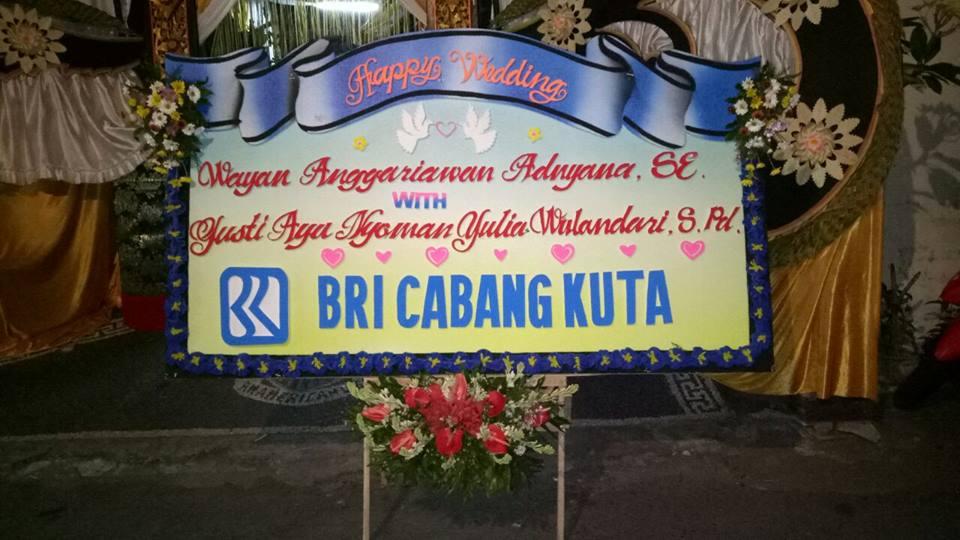 Papan Bunga Ucapan Pernikahan Denpasar