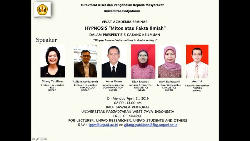 (Streaming Video) Hypnosis Dalam Prespektif 5 Cabang Keilmuan
