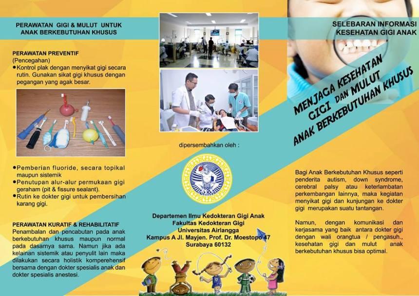 Poster Menjaga Kesehatan Gigi Dan Mulut Anak Berkebutuhan Khusus