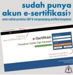 Pengumuman Kewajiban Pembuatan Akun e-sertifikasi