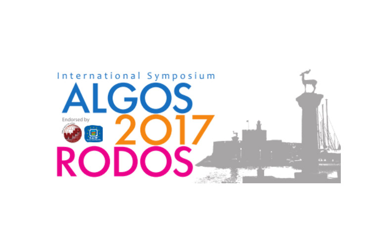 Τιμητική Διάκριση / International Symposium ALGOS 2017 RODOS 25-28 May 2017