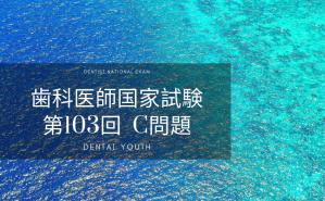 第103回 歯科医師国家試験:C問題