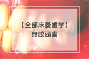 全部床義歯学:無咬頭歯