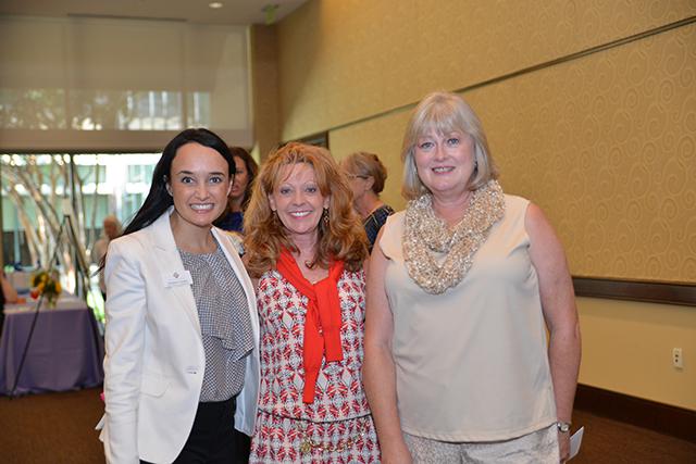 Keynote Speaker Joanna Clarke, Laurie Miller '83, Marilyn Roberts '76