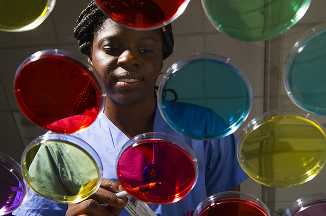 Third-year dental student Esther Oluwo