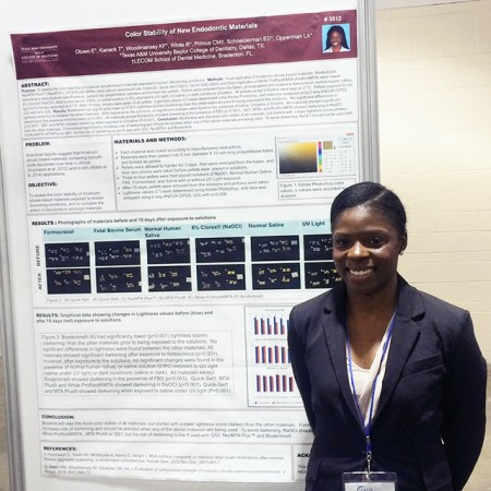 Esther Oluwo also presented findings at the 2015 IADR Annual Session in Boston.