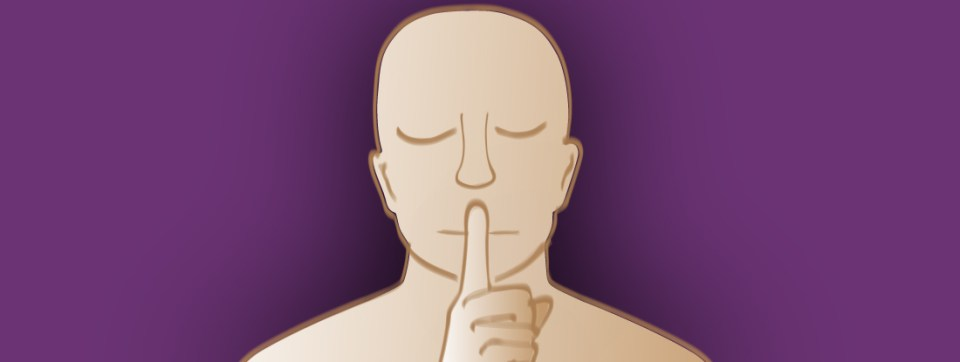 An illustration of a person holding a hand over the mouth