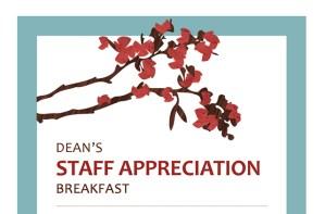 Dean's Appreciation Breakfast sign