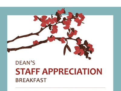 Dean's Appreciation Breakfast sign