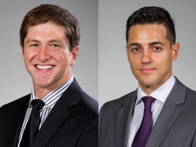 ADEA Chapter President Mehrad Sadeghpour and Vice President Michael Khalili-Tehrani