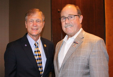 Dr. Brian Babin, U.S. Representative for Texas District 36, and Dr. Tommy Harrison, Distinguished Alumnus