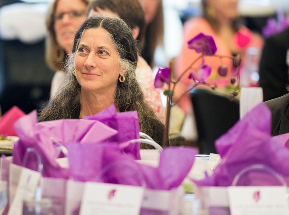 Dr. Janice DeWald during the Sept. 9 Caruth Luncheon
