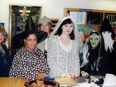 Baylor Health Sciences Library staff members, Halloween 1997