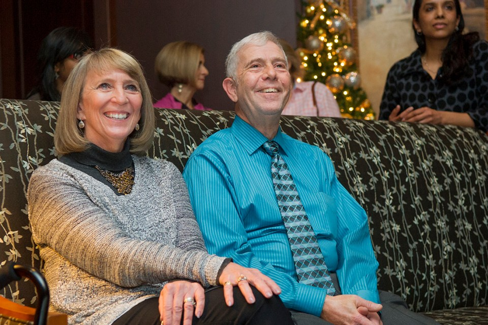 Dr. Harvey Kessler and his wife, Lynn, during his retirement from Texas A&M College of Dentistry