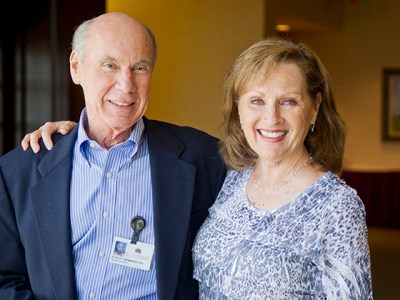Dr. Stan Ashworth and his wife, Karen during his 2012 retirement reception