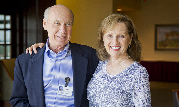 Dr. Stan Ashworth and his wife, Karon, during his 2012 retirement reception