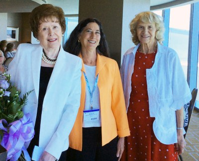 Patricia Wessendorff Londeree, left, during the program's 60th anniversary celebration in 2015, with then-director Dr. Janice DeWald '95 and JoAnne Allen '57, a member of Caruth's first graduating class.