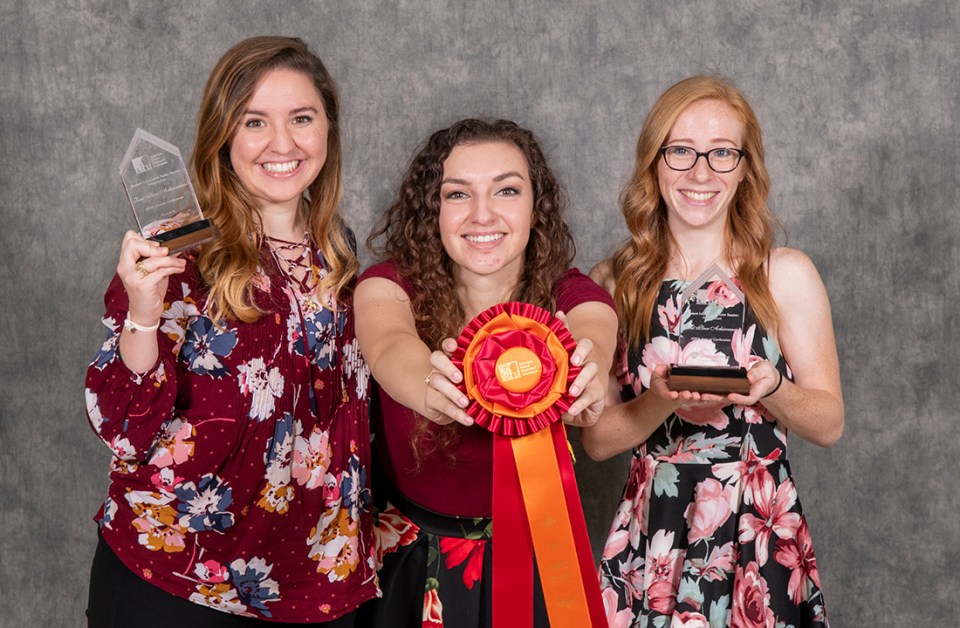 ADHA Award Winners Nina Matheney, Briana Garza and Ashlyn Atwell