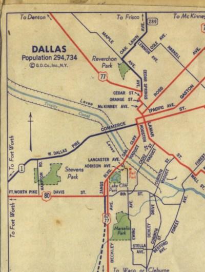 Houston/Dallas map