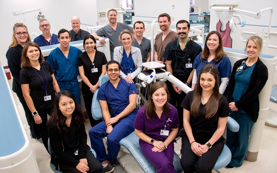 Student and faculty members of Texas A&M College of Dentistry's pilot program, created to test its new patient care model.