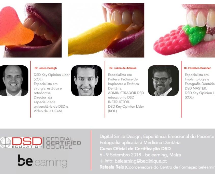 Curso Oficial de Certificação DSD. Digital Smile Design, Experiência Emocional do Paciente e Fotografia aplicada à Medicina Dentária