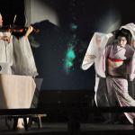ベラガイアイベントでの芸者菊乃とバイオリニストのケンジ・ウィリアムス