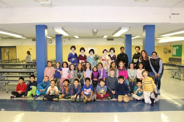 NYの小学校へ芸者と日本伝統芸能者と共に訪問