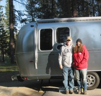 Jim and Felicia at Barton Flats Campsite 38
