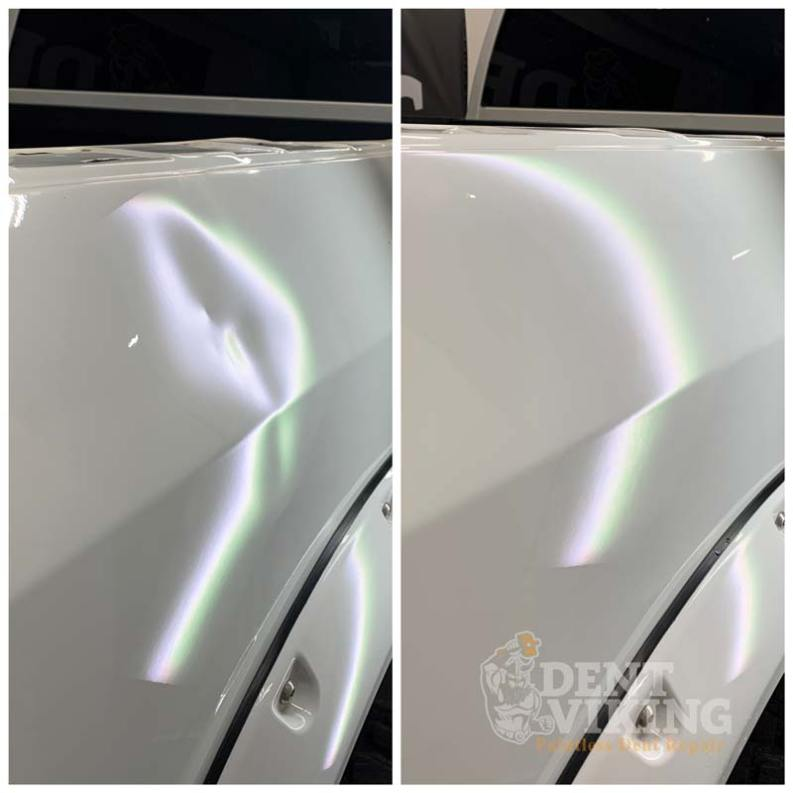 Paintless Dent Repair on Dodge 3500 Bedside in Coeur dAlene