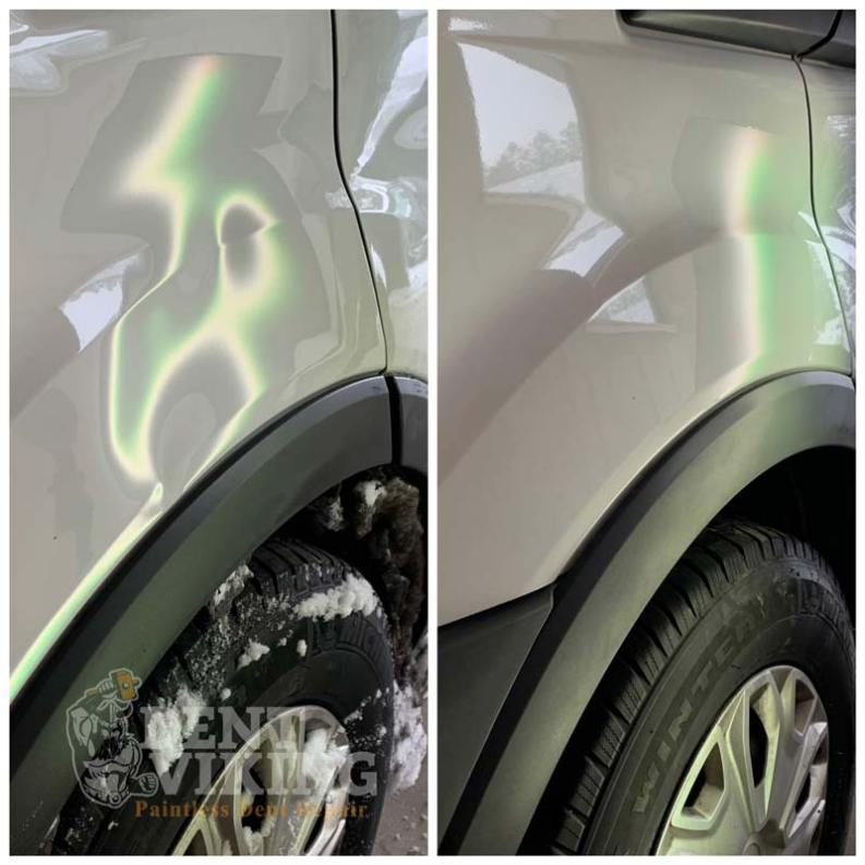 Paintless Dent Repair on Ford Transit Fender Repair in Spokane