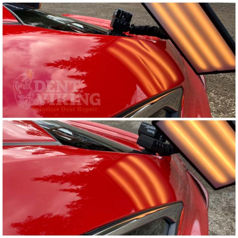 Paintless Dent Repair on Honda Civic Roof Rail in Hayden