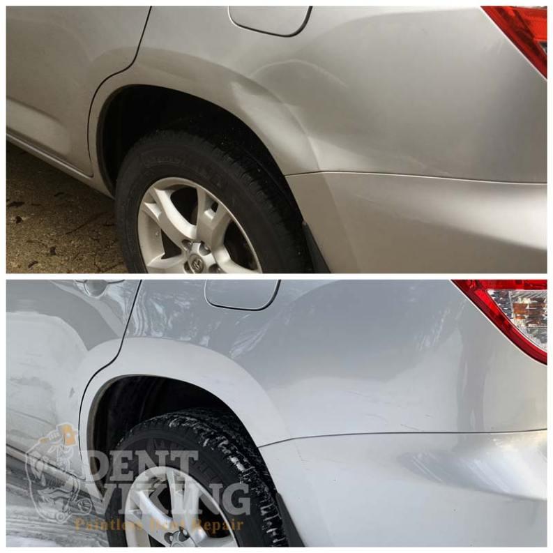 Paintless Dent Repair on Toyota RAV4 QPanel in Hayden