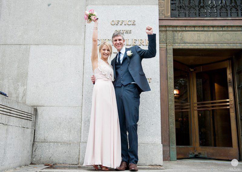 Laura Amp Paul NYC Courthouse Wedding Manhattan Marriage Bureau