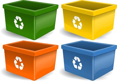 reciclaje-de-basura-cubos-apoyar-el-reciclaje-y-no-buscar-excusas