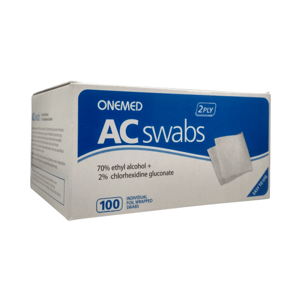 OneMed AC swabs 2 ply - Tissue Alcohol Isi 100 pcs