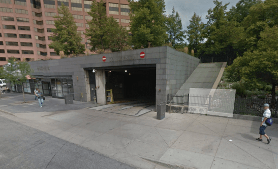 Not the best exit strategy for buses near unassuming pedestrians at Civic Center Station. Image: Google Maps