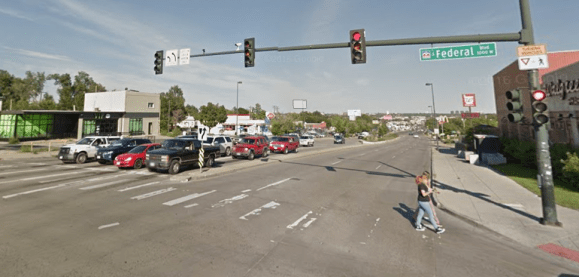 Only two intersections in Denver have more crashes than this one at Federal and Alameda, according to DPW. Google Maps