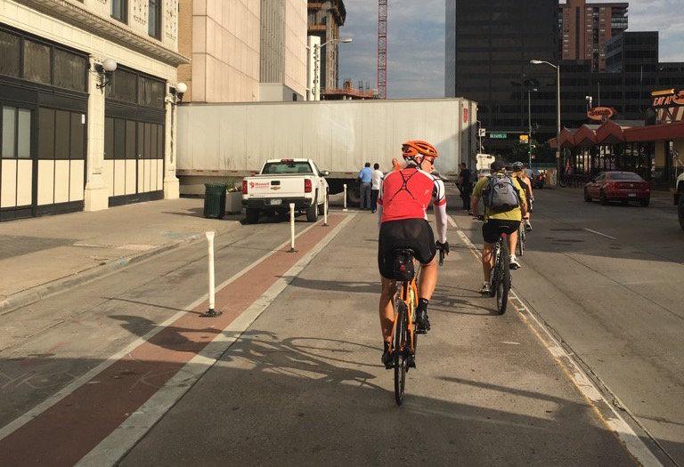15th blocked bike lane