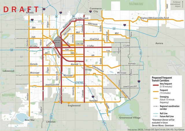 Here's Your First Look at the Map for Frequent, High-Quality Denver on