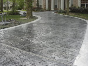 Stamped Colored Concrete Driveway